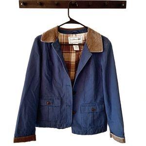 LL BEAN Blue Women's Barn Coat